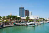panoramic view of miami waterfront poster
