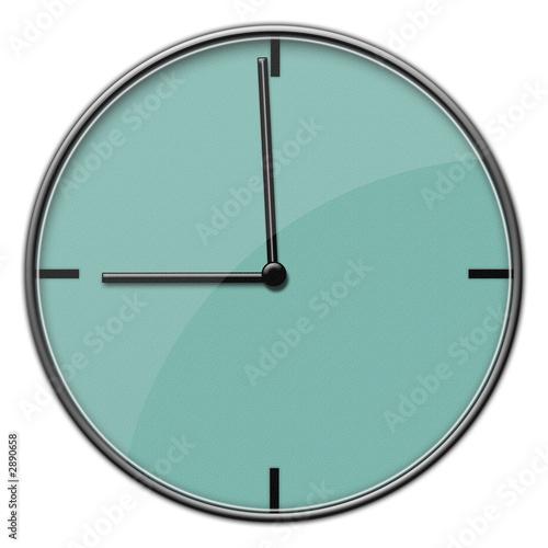modern clock 9:00