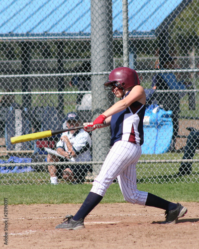 nice swing! (softball player)