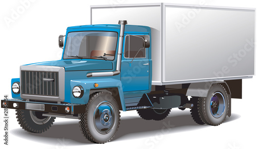 a typical russian truck isolated