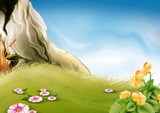 meadow & rock poster