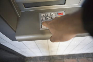 cash machine hand