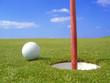 golf petit putt sur le green