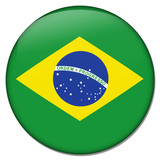 brasilien brazil button poster