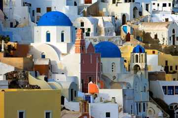 the village of oia by day