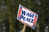 wage peace poster