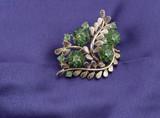 leafy brooch poster