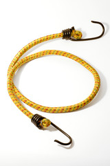 bungee cord with hooks on a white background