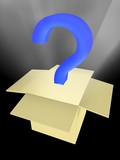 unknown surprise in a box. abstract 3d image poster
