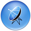 Satellite icon in blue
