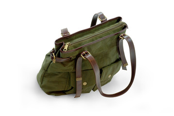 Green Woman purse (hand-bag) isolated