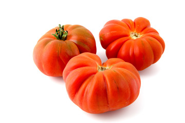 ripe tiger tomatoes
