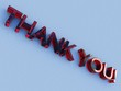 red glass thank you logo