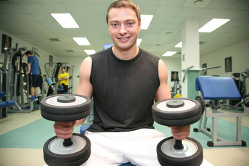 gym man with dumbbell 4