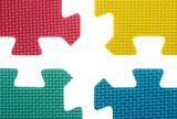 disconnected colour puzles poster