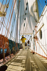work on tall ship
