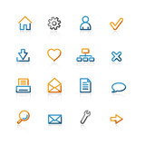 contour basic icons poster