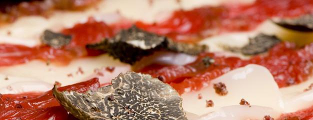 carpaccio de poisson à la truffe noire