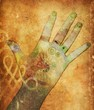 Leinwandbild Motiv chakra hands
