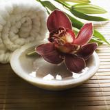 décor floral de massage zen poster