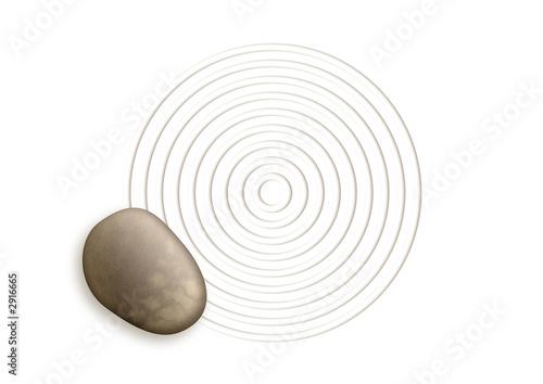 Papiers peints Zen pierres a sable pierre
