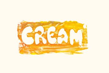lettering cream