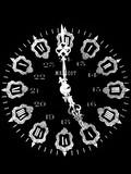horloge font noir poster