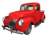 pick-up customisé rouge