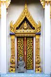 thai buddhist temple door poster