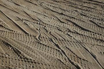 traces dans le désert