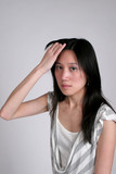chinese woman with headache poster