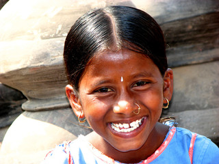 the indian smiling