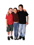 Three Caucasian Children Isolated on White poster