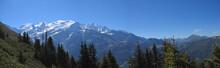 Witte bergen met sneeuw, aiguillette des Houches, Brevent, fra