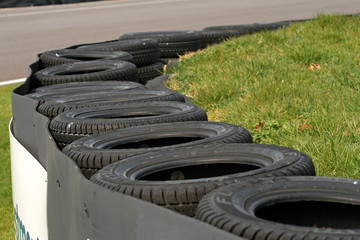 race track tyre wall
