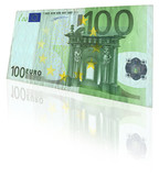 euro note with reflection poster