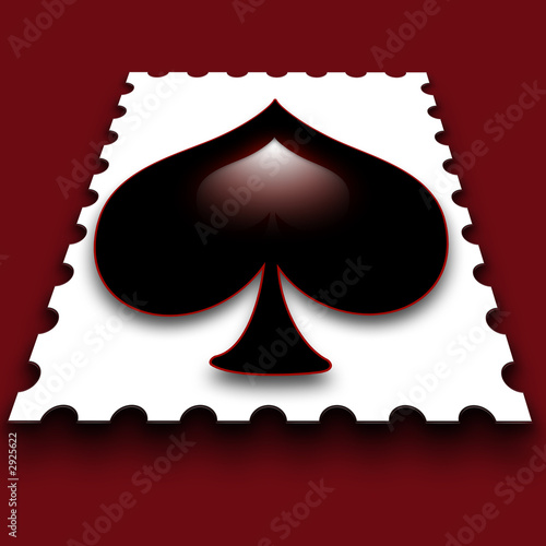 spade stamp red background 2