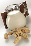 jug with milk and slab chocolate poster