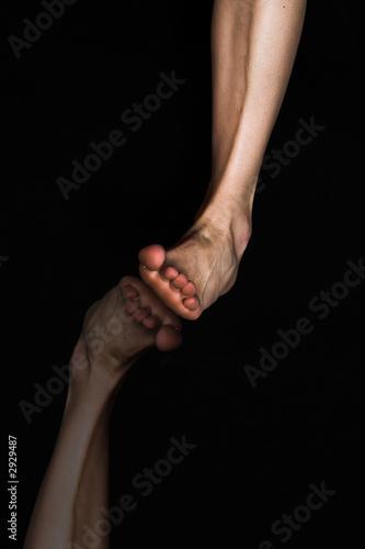 leg over black