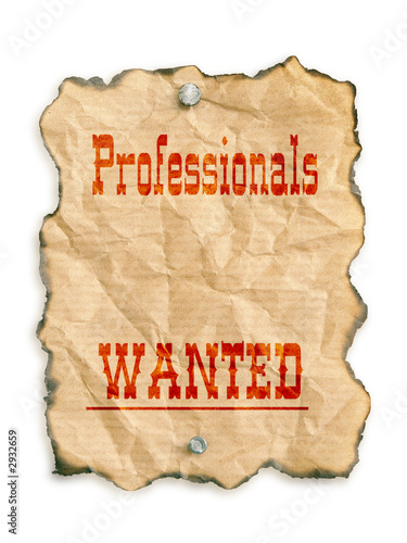 professionals wanted t-shirt