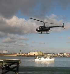 helicopter ride and harbor cruise