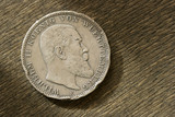 german silver coin. 1910 year. poster