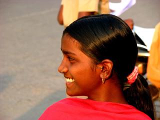 side smile