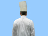 chef in uniform whites