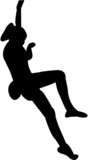 free climbing silhouette poster