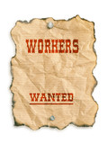 workers wanted poster