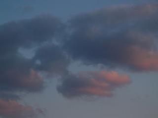 """""""skies: sunsets"""": orange clouds in moody sky"""