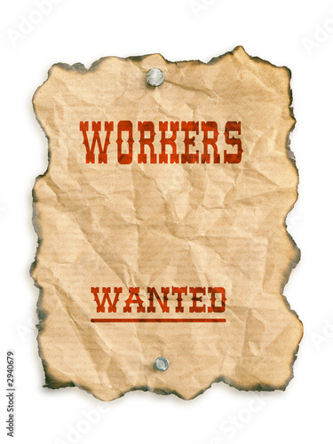 poster of workers wanted