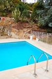 piscine de villa poster
