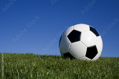 football against blue sky